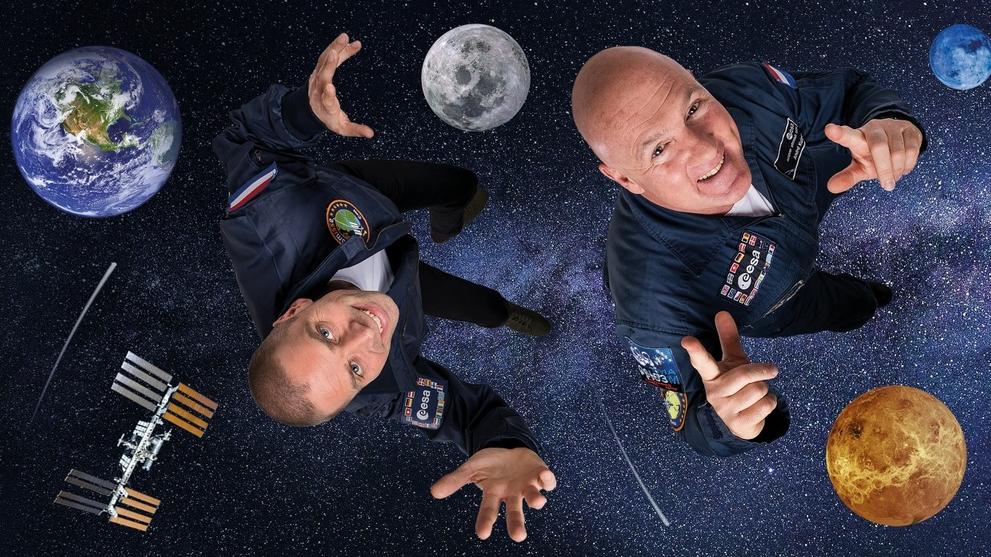 Andre Kuipers en Sander Koenen (8+) - Space Academy live