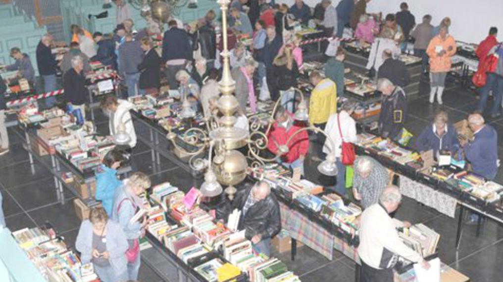 Grote boeken- en platen markt